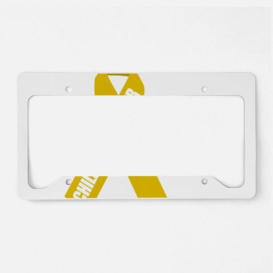 Childhood-Cancer-Hope-blk License Plate Holder