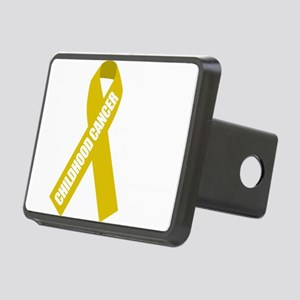 Childhood-Cancer-Hope-blk Rectangular Hitch Cover