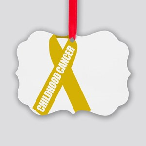 Childhood-Cancer-Hope-blk Picture Ornament