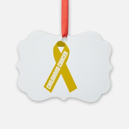 Childhood-Cancer-Hope-blk Ornament