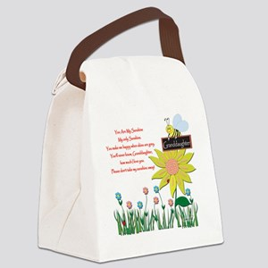 You Are My Sunshine Grandaughter Canvas Lunch Bag