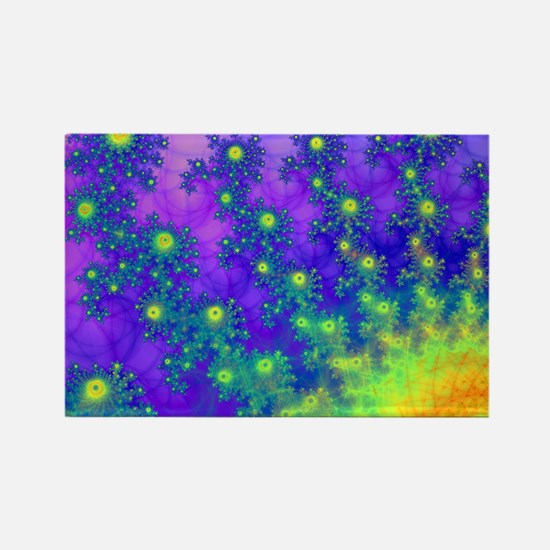 Purple Swirling Sun Rectangle Magnet