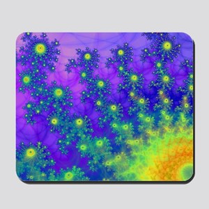 Purple Swirling Sun Mousepad