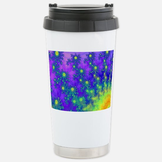 Purple Swirling Sun Stainless Steel Travel Mug