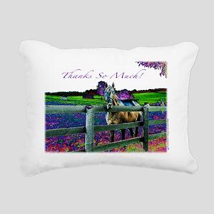 Thank So Much Rectangular Canvas Pillow