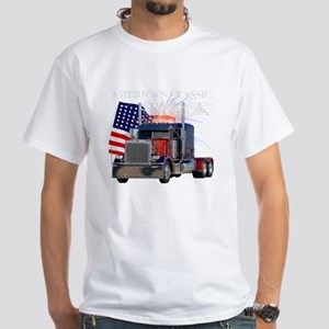 2-Am_Dark_Peterbilt_CP White T-Shirt