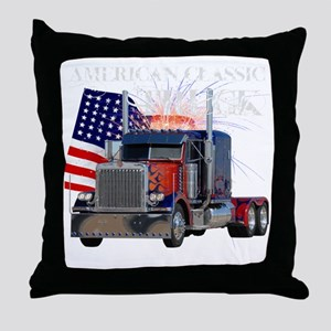 2-Am_Dark_Peterbilt_CP Throw Pillow