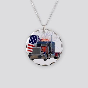 2-Am_Dark_Peterbilt_CP Necklace Circle Charm