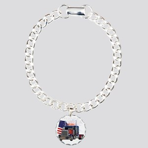 2-Am_Dark_Peterbilt_CP Charm Bracelet, One Charm