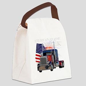 2-Am_Dark_Peterbilt_CP Canvas Lunch Bag