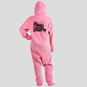 2-Am_Dark_Peterbilt_CP Footed Pajamas