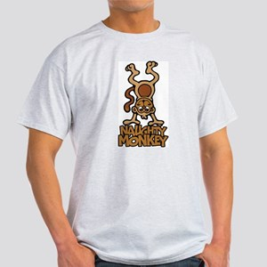 Naughty Monkey Ash Grey T-Shirt