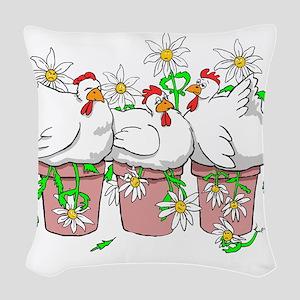 A Chicken In Every Pot Woven Throw Pillow
