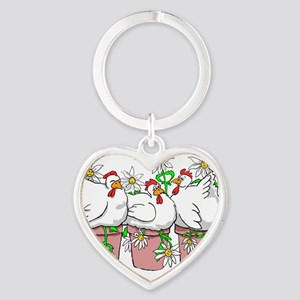A Chicken In Every Pot Heart Keychain