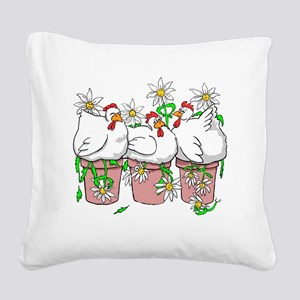 A Chicken In Every Pot Square Canvas Pillow