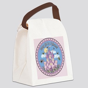 Pillow Princess Castle Canvas Lunch Bag