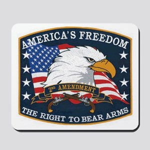 2hd ammendment Mousepad