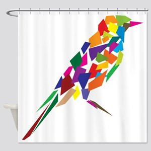 Abstract Colorful Bird Shower Curtain
