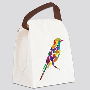 Abstract Colorful Bird Canvas Lunch Bag