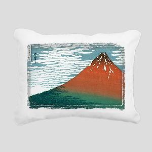 Hokusai33_redfuji (frame Rectangular Canvas Pillow