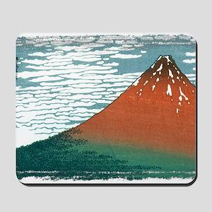 Hokusai33_redfuji (framed with ArtEdges) Mousepad
