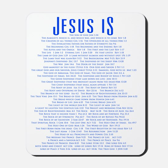 JesusLORDBACKBLUE Mousepad