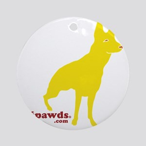 Three Legged GSD - Rear Round Ornament