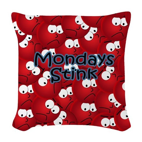 mousecrazy Woven Throw Pillow