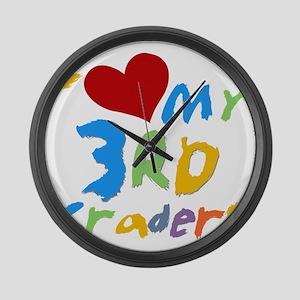 HEART3RDGRADERS Large Wall Clock