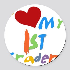 HEART1STGRADERS Round Car Magnet