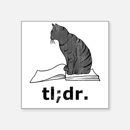 "tldr2 Square Sticker 3"" x 3"""