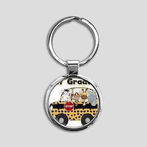 school1stgrader Round Keychain