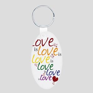 love is love Aluminum Oval Keychain