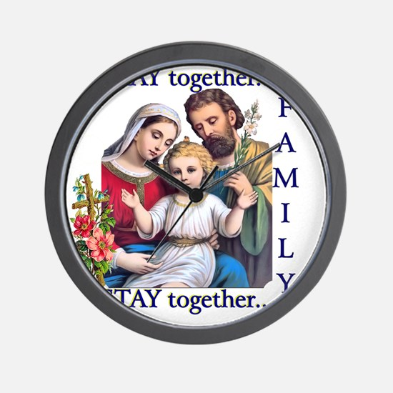 pray_together_12x12-clear Wall Clock