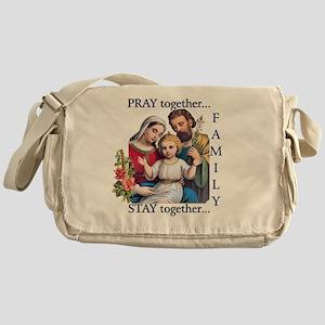 pray_together_12x12-clear Messenger Bag