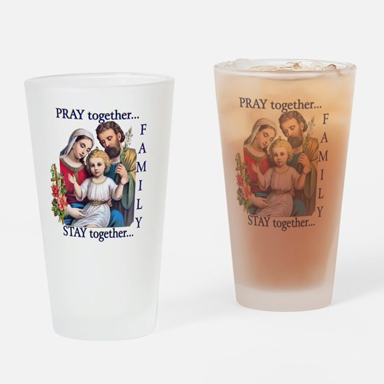 pray_together_12x12-clear Drinking Glass