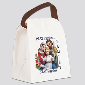 pray_together_12x12-clear Canvas Lunch Bag
