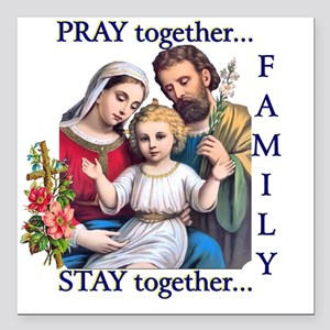 """pray_together_12x12-clea Square Car Magnet 3"""" x 3"""""""