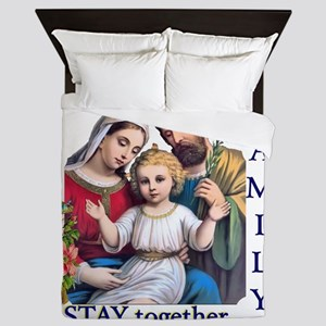 pray_together_12x12-clear Queen Duvet