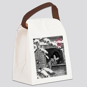 CHINESE LOVE SQUARE Canvas Lunch Bag