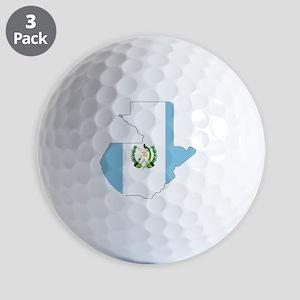Guatemala_mapflag Golf Balls