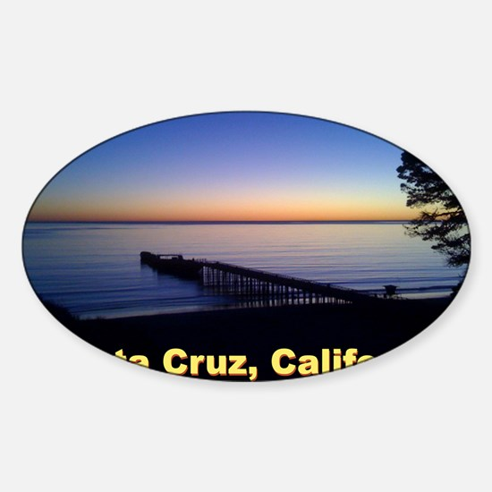 Sunset-At-Seacliff-Beach-DONE-5 Sticker (Oval)