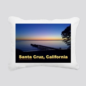 Sunset-At-Seacliff-Beach Rectangular Canvas Pillow