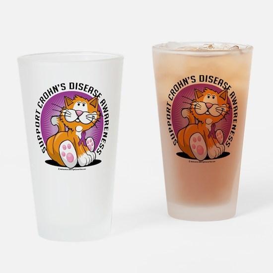 Crohns-Disease-Cat Drinking Glass
