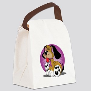 Crohns-Disease-Dog-blk Canvas Lunch Bag