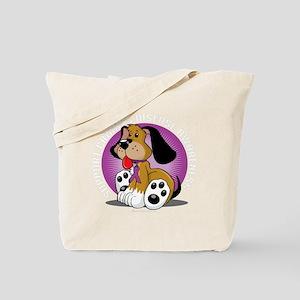 Crohns-Disease-Dog-blk Tote Bag