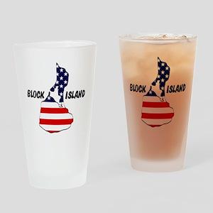 Block Island USA Drinking Glass