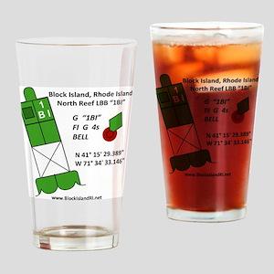 Block Island 1BI North Reef Marker Drinking Glass
