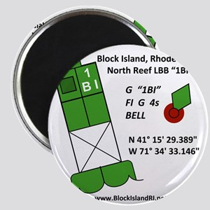 Block Island 1BI North Reef Marker Magnet