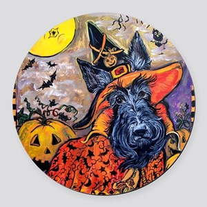 Card 1 august 2010 large Round Car Magnet